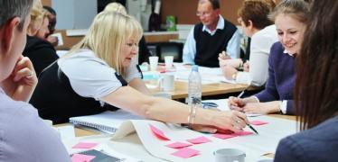 Workshop facilitator and guests