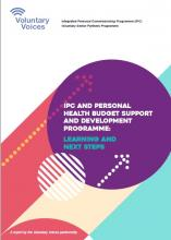 Front cover of IPC and Personal Health Budget Support and Development Programme
