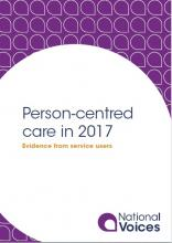 Person-centred care in 2017 front cover